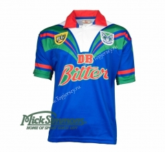 Retro Version 1995 New Zealand Warriors Blue Thailand Rugby Shirt