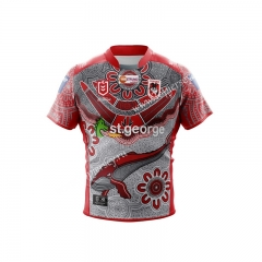 Native Version 2021 St George Red Thailand Rugby Jersey