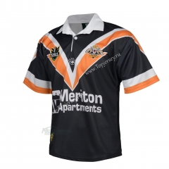 Retro Version 1998 Wests Tigers Black Thailand Rugby Shirt
