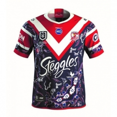 2021 Australia Roosters Royal Blue&Red Thailand Rugby Shirt