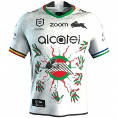 Native Version 2021 South Sydney Rabbitohs White Thailand Rugby Jersey