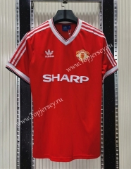 Retro Version 1984 Manchester United Home Red Thailand Soccer Jersey AAA-C1046