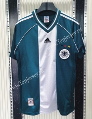 Retro Version 1998 Germany Away White&Green Thailand Soccer Jersey AAA-C1046