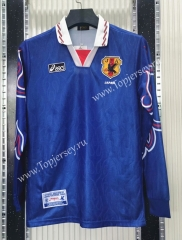 Retro Version 1996 Japan Home Blue LS Thailand Soccer Jersey AAA-C1046