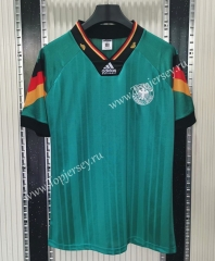 Retro Version 1992 Germany Away Green Thailand Soccer Jersey AAA-C1046