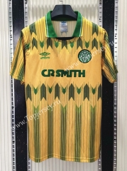 Retro Version 1989-1991 Celtic Yellow&Green Thailand Soccer Jersey AAA-C1046
