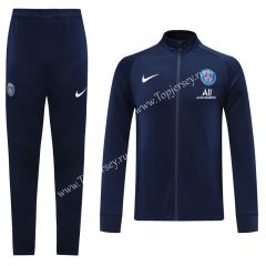 2020-2021 Paris SG Royal Blue Thailand Training Soccer Jacket Unifrom-LH