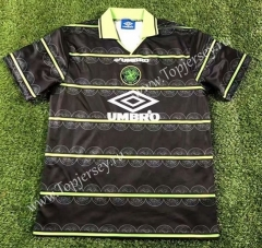Retro Version 1997-1999 Celtic Away Black Thailand Soccer Jersey AAA-503