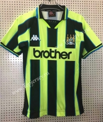 Retro Version 98-99 Manchester City Black&Green Thailand Soccer Jersey AAA-811