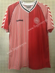 Retro Version 1986 Denmark Home Red Thailand Soccer Jersey AAA-811