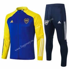2020-2021 Boca Juniors Camouflage Blue Thailand Soccer Jacket Uniform-815