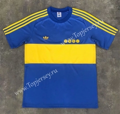 Retro Version 1981 Boca Juniors Home Blue Thailand Soccer Jersey AAA-SL