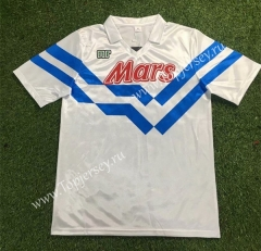 Retro Version 1988-1989 Napoli Away White Thailand Soccer Jersey AAA-503