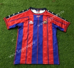 Retro Version 97-98 Barcelona Home Red&Blue Thailand Soccer Jersey AAA-503