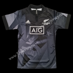 2020 All Blacks Sevens Home Black Thailand Rugby Shirt