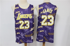 Limited Version Los Angeles Lakers Purple #23 NBA Retro Jersey