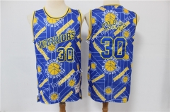 Limited Version Golden State Warriors Blue #30 NBA Retro Jersey