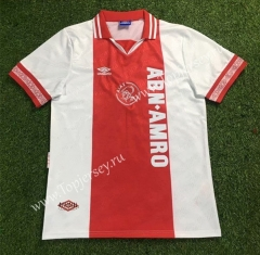 Retro Version 94-95 Ajax Home Red&White Thailand Soccer Jersey AAA-503