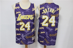 Limited Version Los Angeles Lakers Purple #24 NBA Retro Jersey