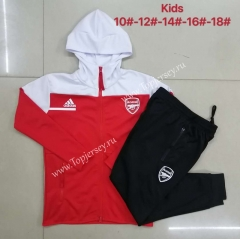 2020-2021 Arsenal Red Kids/Youth Soccer Jacket Uniform With Hat-815