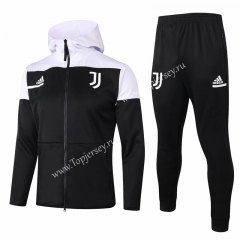 2020-2021 Juventus Black Thailand Soccer Jacket Uniform With White Hat-815