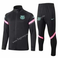 2020-2021 Barcelona Black Thailand Soccer Jacket Uniform -815