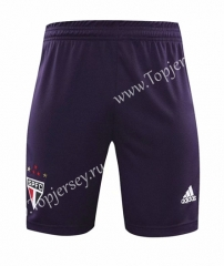 2020-2021 Sao Paulo Goalkeeper Purple Thailand Soccer Shorts-418