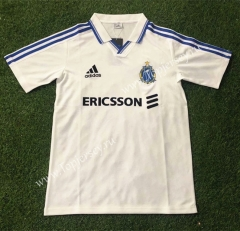 Retro Version 1999-2000 Olympique de Marseille Home White Thailand Soccer Jersey AAA-503