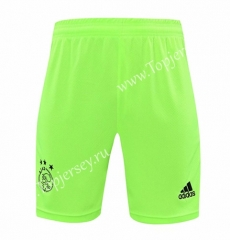 2020-2021 Ajax Goalkeeper Fluorescent Green Thailand Soccer Shorts-418