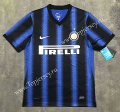 Retro Version 2010-2011 Inter Milan Home Blue&Black Thailand Soccer Jersey AAA-SL