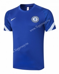 2020-2021 Chelsea Camouflage Blue Short-sleeved Thailand Soccer Tracksuit Top-815