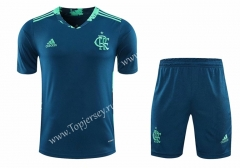 2020-2021 Flamengo Goalkeeper Blue Thailand Soccer Uniform-418