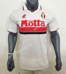 Retro Version 93-94 AC Milan Away White Thailand Soccer Jersey AAA-416