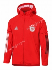 2020-2021 Bayern München Red Trench Coats With Hat-815