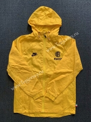 2020-2021 Inter Milan Yellow Trench Coats With Hat -WD