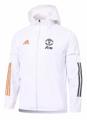2020-2021 Manchester United White Trench Coats With Hat-815