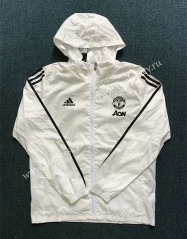 2020-2021 Manchester United White Trench Coats With Hat-WD