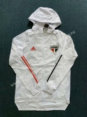 2020-2021 Sao Paulo Futebol Clube White Trench Coats With Hat-WD