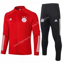 2020-2021 Ajax Red Thailand Soccer Jacket Uniform-815