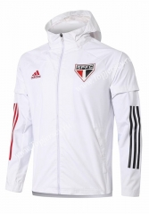 2020-2021 Sao Paulo Futebol Clube White Trench Coats With Hat-815