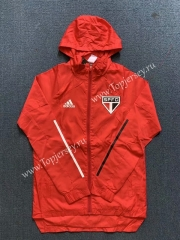2020-2021 Sao Paulo Futebol Clube Red Trench Coats With Hat-WD
