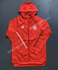 2020-2021 Bayern München Red Trench Coats With Hat-WD
