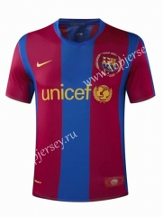 Retro Version 07-08 Barcelona Home Red&Blue Thailand Soccer Jersey AAA-905