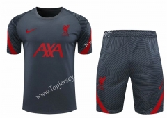 2020-2021 Liverpool Dark Gray Thailand Training Soccer Uniform-418