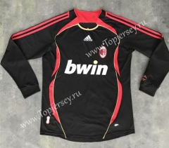 Retro Version 2006 AC Milan 2nd Away Black LS Thailand Soccer Jersey AAA-SL