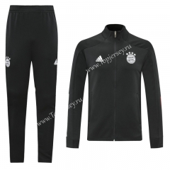 2020-2021 Bayern München Black Thailand Training Soccer Jacket Uniform-LH