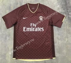 Retro Version 06-07 LV Version Paris SG Away Dark Red Thailand Soccer Jersey AAA-SL