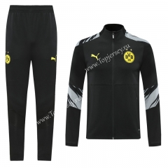 2020-2021 Borussia Dortmund Black Thailand Training Soccer Jacket Uniform-LH