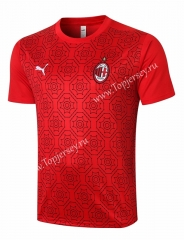 2020-2021 AC Milan Red (Pad printing) Thailand Short-sleeved Tracksuit Top-815