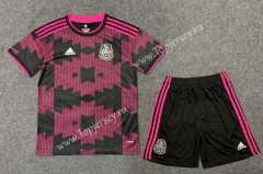 2020-2021 Mexico Home Pink&Black Soccer Uniform-TJ